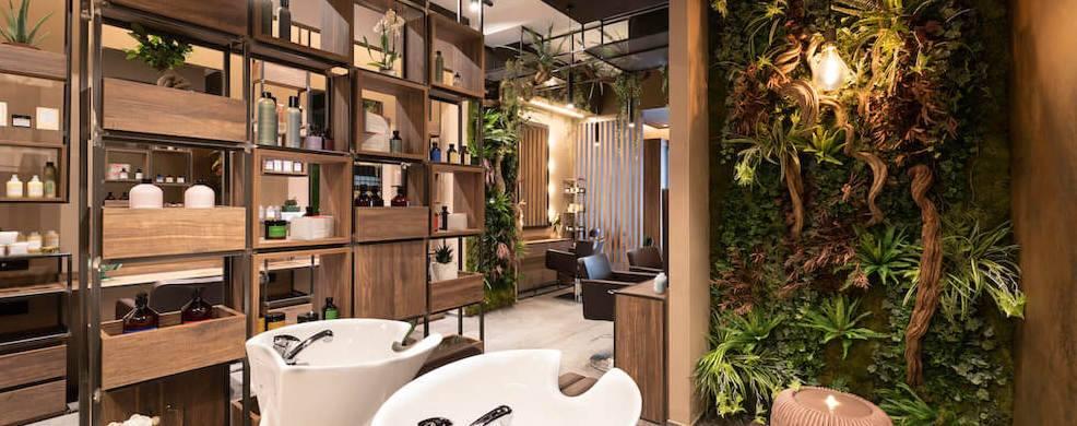 arredamento parrucchiere ecologico